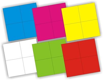 """Кубики (4 куб) &quotИзучаем цвета"""" арт. 01323"""