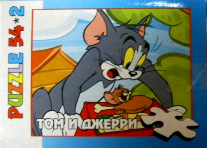 пазлы сувенирные №15 Том и Джерри