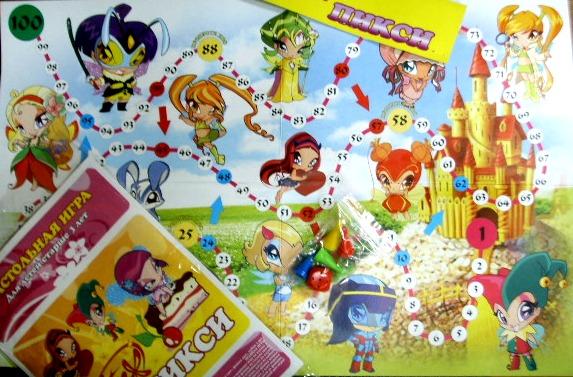 настольная игра-ходилка №40   Пикси Winx