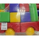 Кузнецкий трейлер 10 дет. Набор кубиков+шарики+строит. элементы