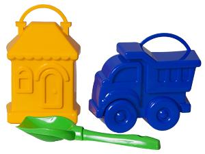 Набор Формочек (домик и машинка)+совок