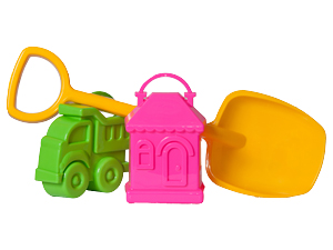 Набор Формочек (машинка и домик)+лопатка